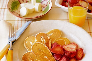 Mother's Day Heart Shaped Pancakes