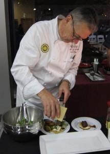 Renaissance Resort of Westchester's Executive Chef, Jean Claude Lanchais, prepares a braised veal dish