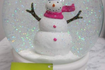 Snow-Globe with glitter snowman from HomeGoods_6122