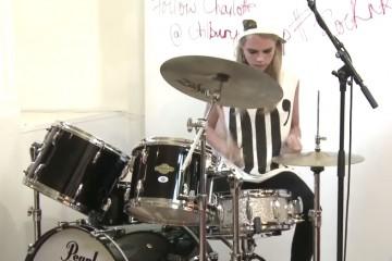 cara delavigne drumming